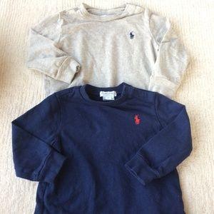 Ralph Lauren Baby Boy Long Sleeve Tee Blue Gray